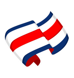 Isolated flag of costa rica vector