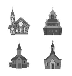 Isolated object architecture and faith sign vector