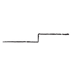 Line angled used for dividing a field vintage vector