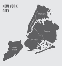 map new york city vector image