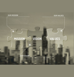 mission vision and values diagram schema vector image