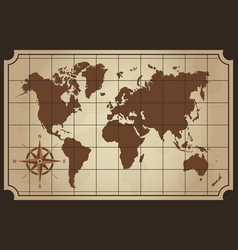 Old world map isolated vector