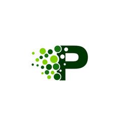 p letter pixel logo icon design vector image