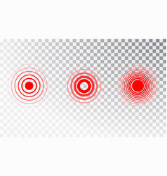 Pain red circle or ache localization icon vector