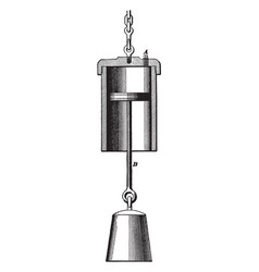 Piston and rod vintage vector
