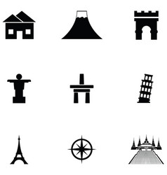 place icon set vector image
