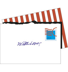 post card envelope mail icon vector image