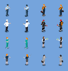 professional utility clothes set vector image