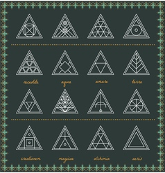 Set of geometric hipster shapes54szBlack vector image