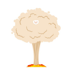 sheep nuclear explosion farm animal vector image