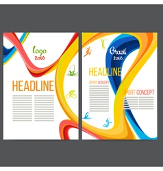 Sport concept banners with symbols of sports vector