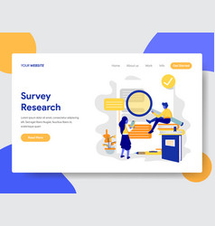Survey research concept vector