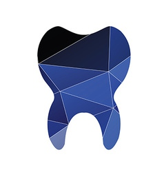 Tooth icon Abstract Triangle vector