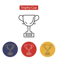 trophy cup icon outline pictogram vector image