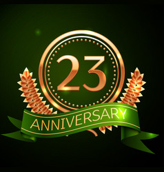 twenty three years anniversary celebration design vector image