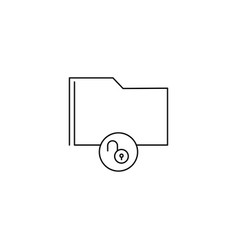 unlocked folder icon vector image