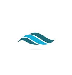 wave water ocean abstract logo vector image