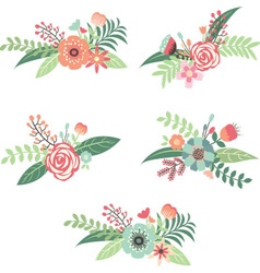 wedding flower collection vector image