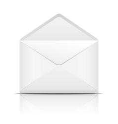 White open envelope vector