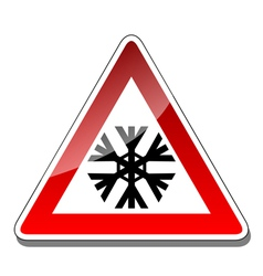 A warning sign vector image