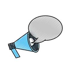 announcement megaphone bubble speak broadcast vector image