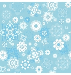 blue seamless background with snowflakes vector image vector image