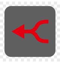 Combine arrow left rounded square button vector