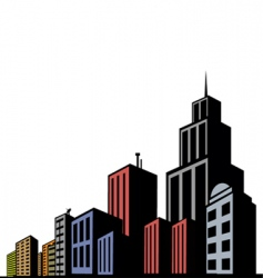 modern buildings vector image