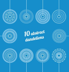 Set of Abstract Dandelions vector image vector image