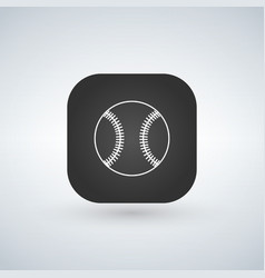 baseball icon or logo in line style app square on vector image