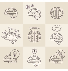 Brain icons vector image vector image