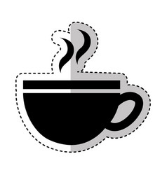 coffee cup silhouette isolated icon vector image