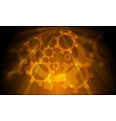 Industrial Gears Background vector image