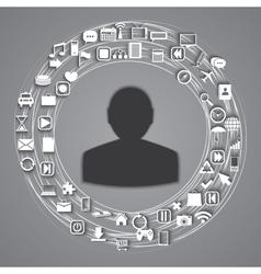 media world vector image vector image
