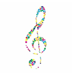 a colorful clef vector image