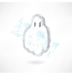 cute ghost grunge icon vector image vector image