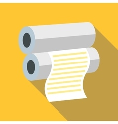 Fax paper icon flat style vector