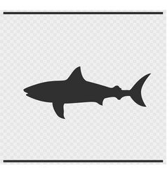 fish icon black color on transparent vector image