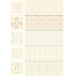 Seamless vintage geometric pattern vector image vector image