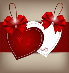 Valentines hearts tags vector image vector image