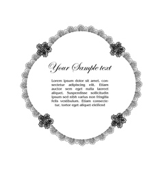 vintage lacy background vector image