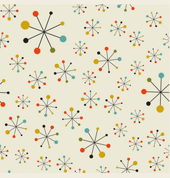 abstract mid century space pattern vector image vector image