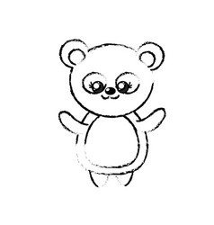 Figure beautiful cute animals with expression face vector