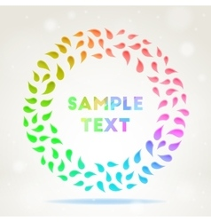 Ornamental colourful frame vector image vector image