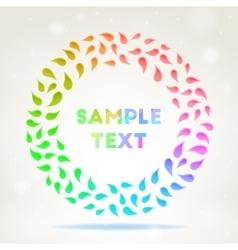 Ornamental colourful frame vector image