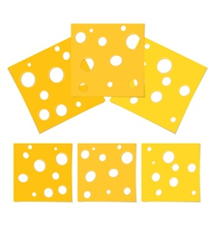 Slices of Cheese vector image vector image