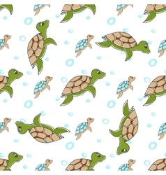 turtles in cartoon style vector image