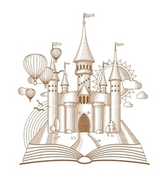 World of tales fairy castle appearing from the vector image