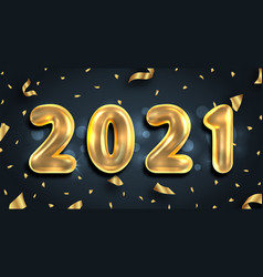 2021 new year poster golden glitter text gold vector image