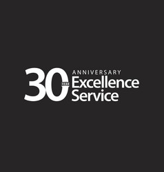 30 year anniversary excellence service template vector